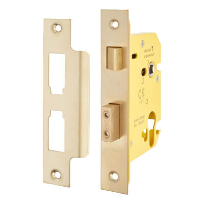 Altro Euro Profile Sashlock - 78mm Case - 57mm Backset - PVD Brass
