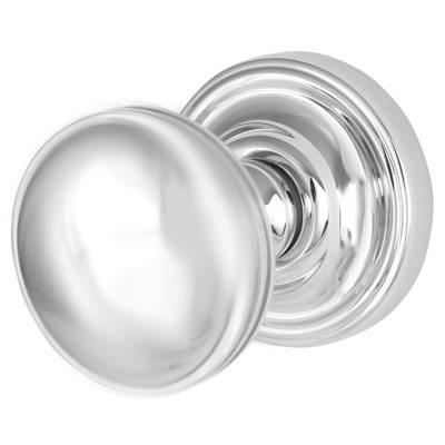M Marcus Whitehall Mortice Door Knob - 62mm - Polished Chrome