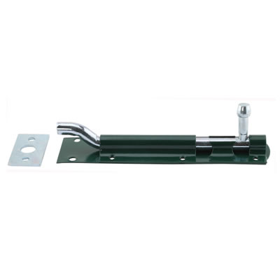 Necked Tower Bolt - 150mm - Green