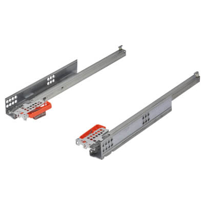 Blum TANDEM BLUMOTION Soft Close Drawer Runners - Single Extension - 350mm - 30kg