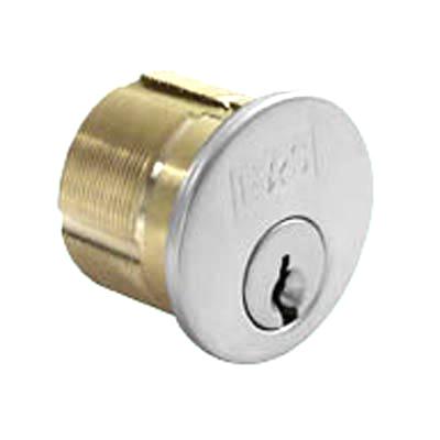 Threaded Rim Cylinder - Polished Chrome  - Keyed to Differ