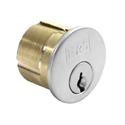 Threaded Rim Cylinder - Polished Chrome  - Keyed to Differ