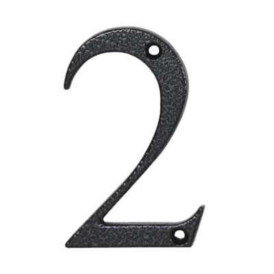 76mm Numeral - 2 - Antique Black Iron