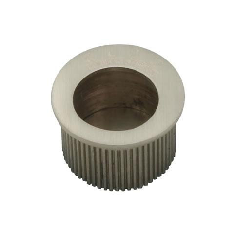 KLÜG Round Door Edge Finger Pull - 30mm - Satin Nickel