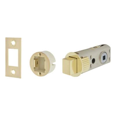 UNION JFL27 FastLatch Tubular Push-Fit Bathroom Deadbolt - 60mm Case - 44mm Backset - Polished Bras