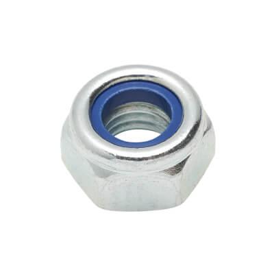 Self Locking Nut Nylon Insert - M10 - Zinc Plated - Pack 25