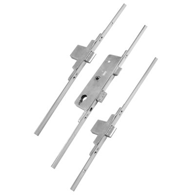 Fullex Multipoint Door Lock - Split Spindle - 3 Deadbolts - 68mm Cntres - 35mm Backset - uPVC / Tim)