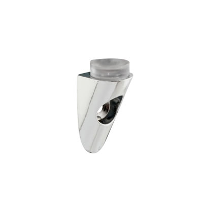Shelf Support Rest - Rounded Wedge - 25 x 15 - Polished Chrome - Pack 10
