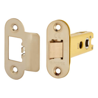 Altro Heavy Duty Tubular Latch - 78mm Case - 57mm Backset - Radius - Electro Brass