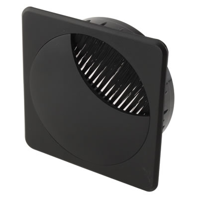 ION Square Cable Tidy - 80mm - Black - Pack 10