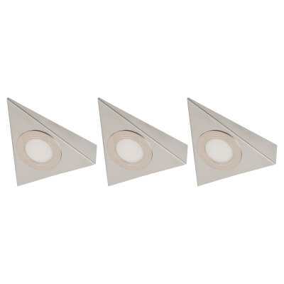 Sensio Bermuda LED Cabinet Light - Triangle - Cool White - Includes Driver - Pack 3