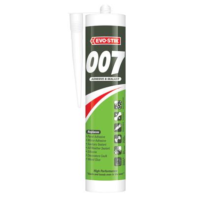 Evo-Stik 007 Adhesive & Sealant - 290ml - White)