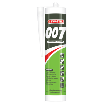 Evo-Stik 007 Adhesive & Sealant - 290ml - White