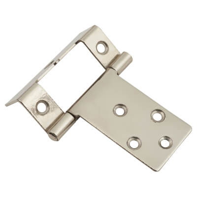 Cranked Type 1 Flush Hinge - 16 x 51mm - Nickel Plated - Pack of 5 pairs)
