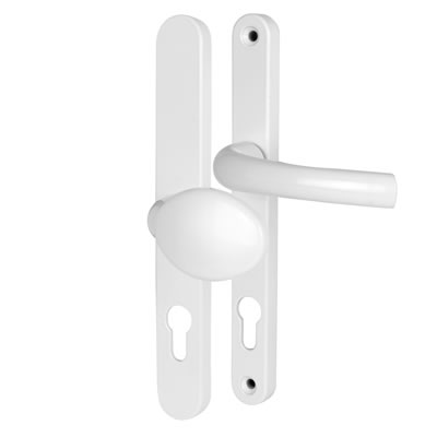 Hoppe Tokyo Multipoint Handle - uPVC/Timber - 92mm centres - 70mm door thickness - Lever/Pad - Whit