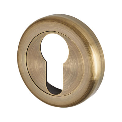 Morello Escutcheon - Euro - Antique Brass