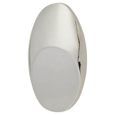 FingerTip Design Crescent Cabinet Knob - 33 x 22mm - Chrome Plated)