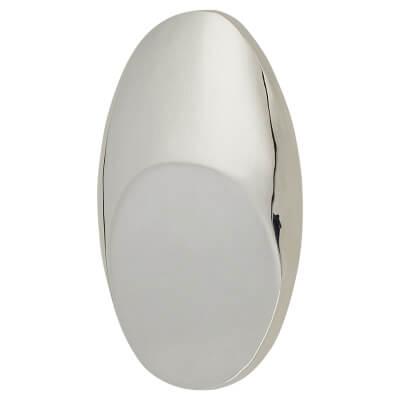 FingerTip Design Crescent Cabinet Knob - 33 x 22mm - Chrome Plated