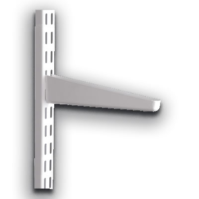 elfa® Bracket for Solid Shelving - 120mm - White)
