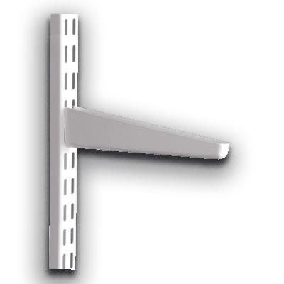 elfa® Bracket for Solid Shelving - 120mm - White)
