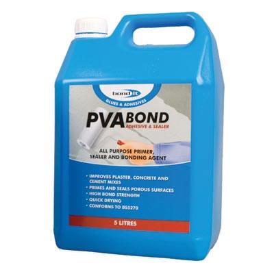 Bond It PVA Adhesive and Sealer - 5000ml)