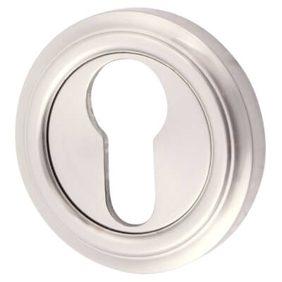Euro Escutcheon - Satin Nickel)