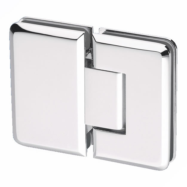Glass to Glass Shower Hinge - 180° - 10mm Glass)