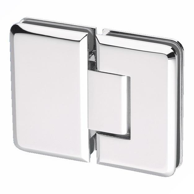 Glass to Glass Shower Hinge - 180° - 10mm Glass)