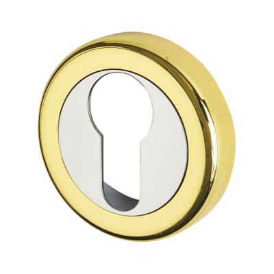 Morello Escutcheon - Euro - Polished Brass/Chrome)