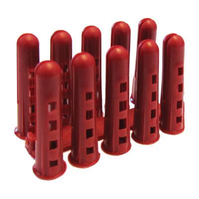 Rawlplug HDPE Plug - Red - Pack 1000)