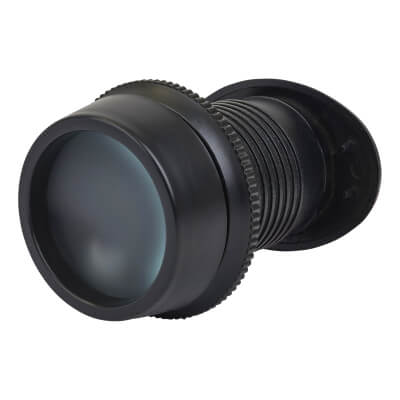 Lorient Fire Rated Wide Angle Viewer - Black)