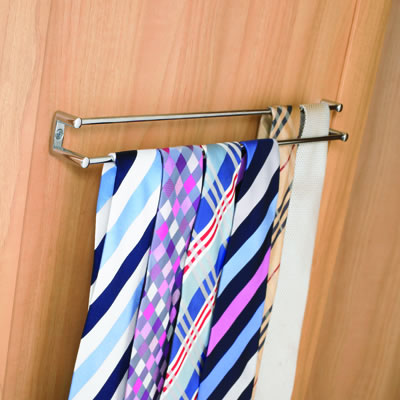 Wardrobe Door Tie Rail - 412mm - Chrome