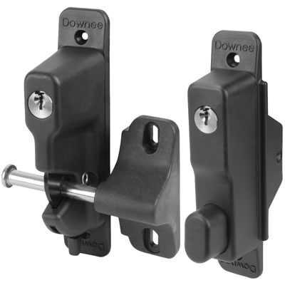 Double Sided Lockable Gravity Safety Catch - Locked Open & Closed - 260 x 180 x 60mm