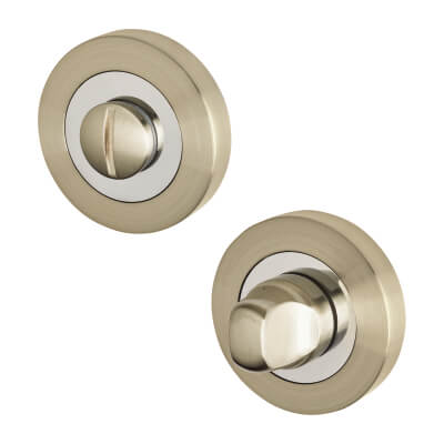 Excel Turn & Release - Satin Nickel/Polished Chrome