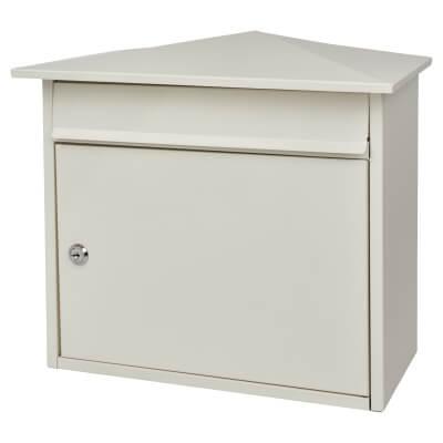 Mersey Mailbox - 359 x 349 x 206mm - White)