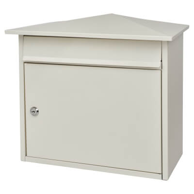 Mersey Mailbox - 359 x 349 x 206mm - White