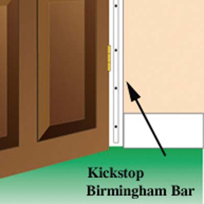 Kickstop Birmingham Bar - 1980 x 16mm - White