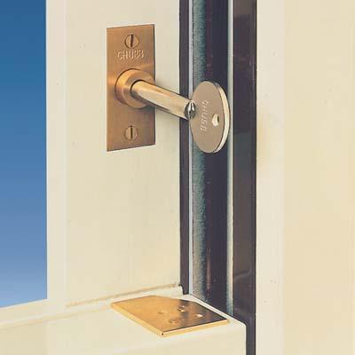 Yale® WS1 Sash Window Stop - Brass