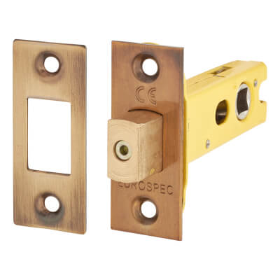 Altro 8mm Tubular Bathroom Deadbolt - 76mm Case - 57mm Backset - Square - Florentine Bronze