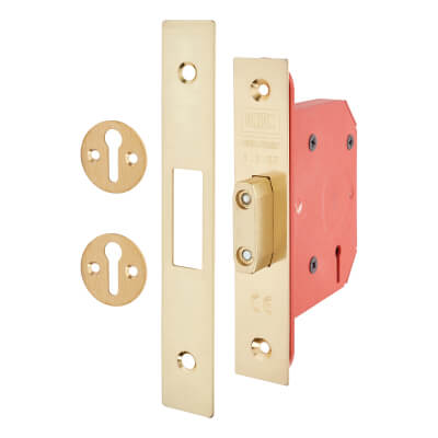 UNION® 2103S StrongBOLT 3 Lever Deadlock - 81mm Case - 57mm Backset - Brass