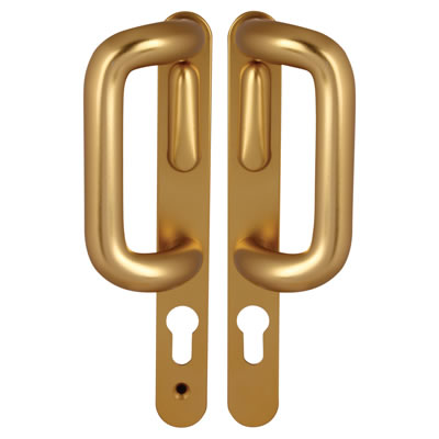 Hoppe Patio Handle - uPVC/Timber  - Left Hand - Gold