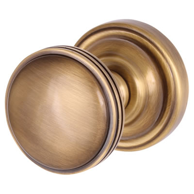 M Marcus Whitehall Mortice Door Knob - 62mm - Antique Brass