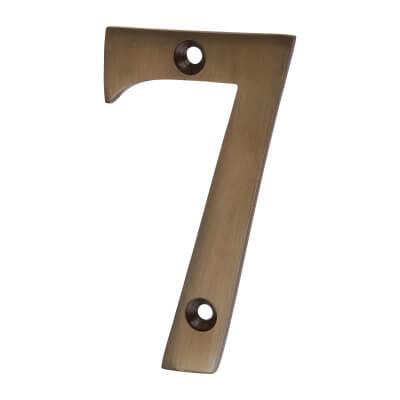 Jedo 75mm Numeral - 7 - Dark Bronze