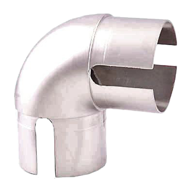 Easi-Rail 40mm Handrail System - 90 Degree Joint - Brushed Nickel