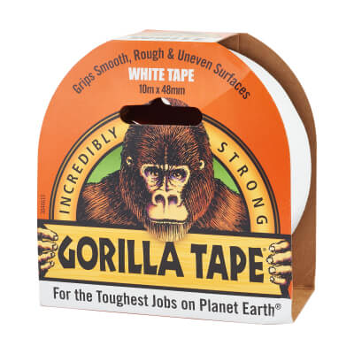 Gorilla Super Strong Tape - 48mm x 11m - White)