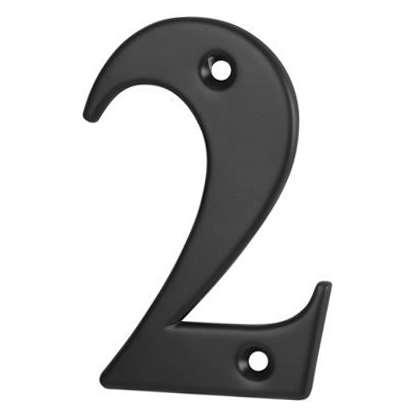 76mm Numeral - 2 - Black
