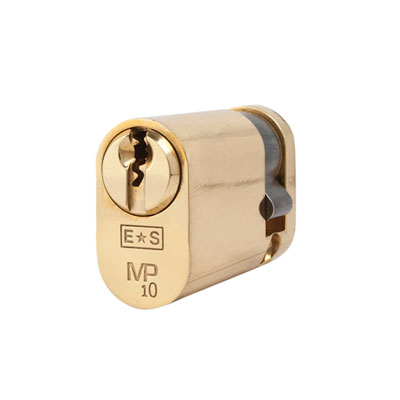 Eurospec MP10 - Oval Single Cylinder - 35 + 10mm - Polished Brass  - Keyed to Differ