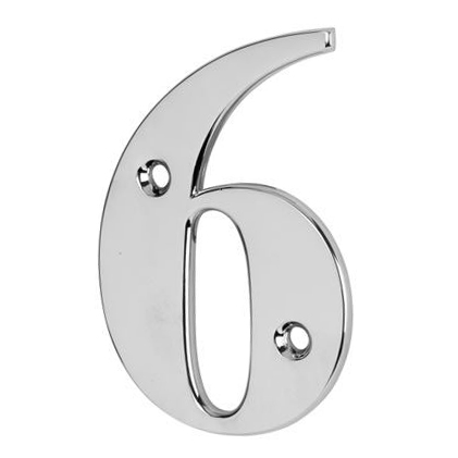 76mm Numeral - 6/9 - Bright Chrome