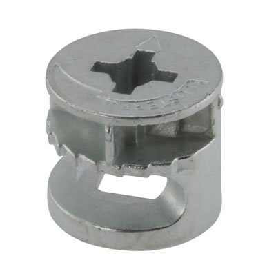 Rimless Cam Connector - Min Panel Thickness 18mm - Zinc Plated - Pack 50