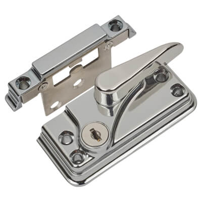 Fab & Fix High Security Fitch Fastener Cam Lock and Large Keep - Chrome